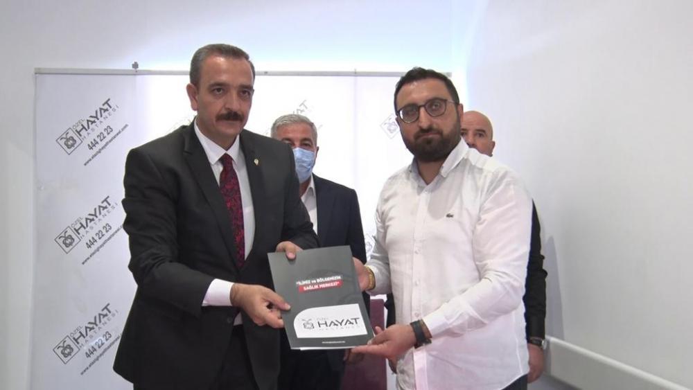 elazig amator spor kulupleri federasyonu ile ozel hayat hastanesi arasinda saglik protokolu imzalandi