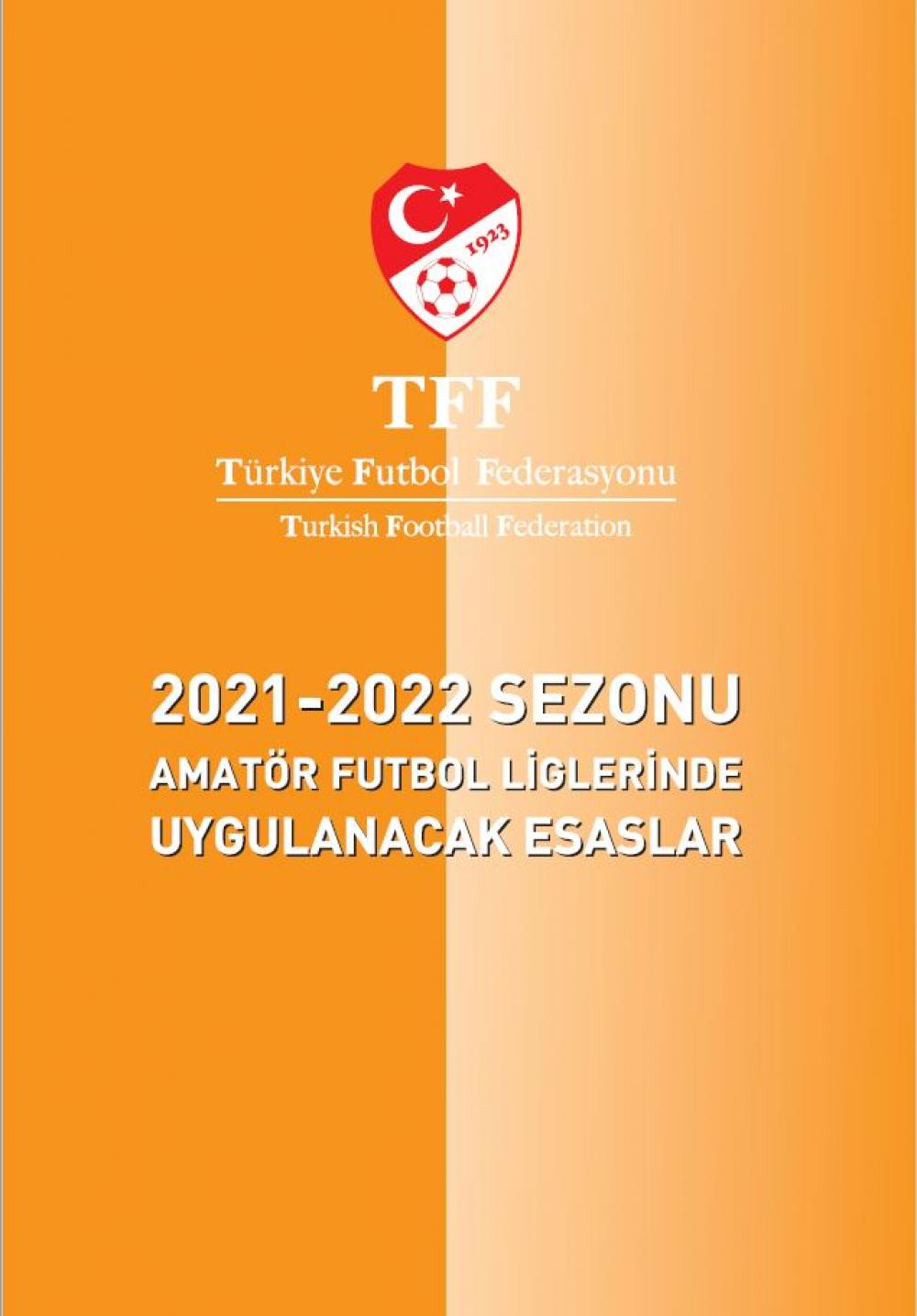 2021 2022 futbol sezonu amator futbol ligleri kitapcigi